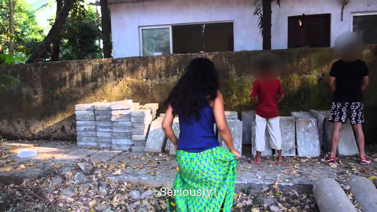 India girl peeing