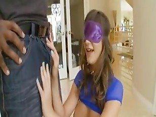 Interracial blindfold porn