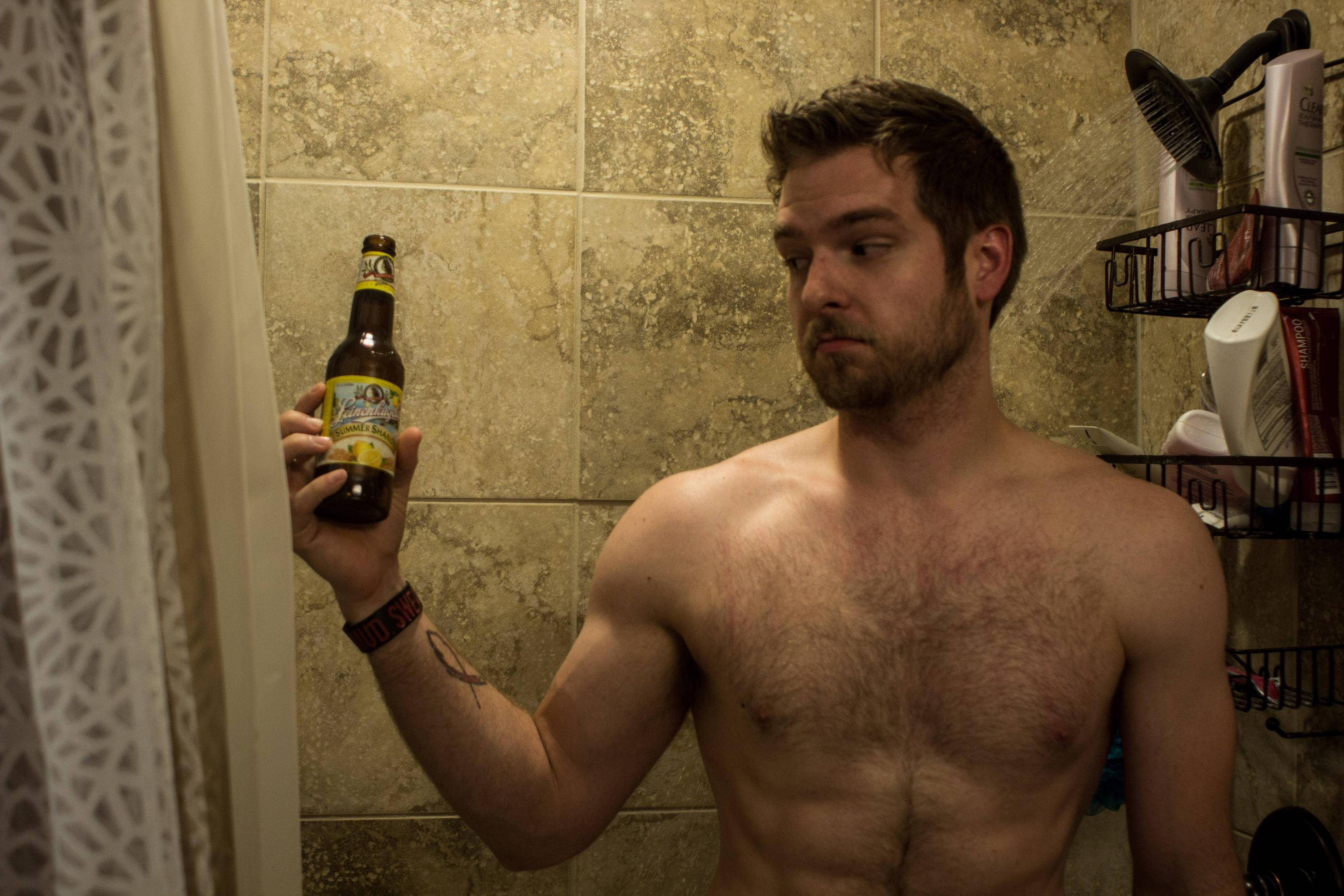 Sexy beer shower commercial