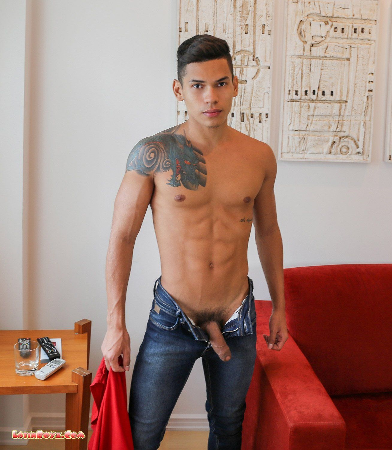 latino man naked