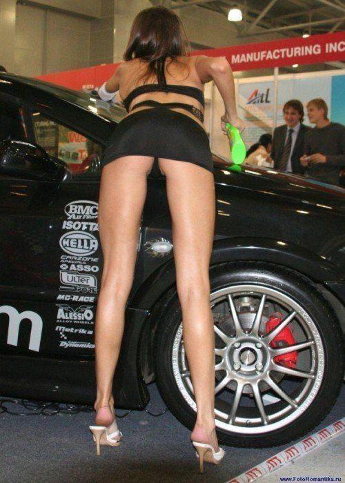Upskirt photos fiat auto show