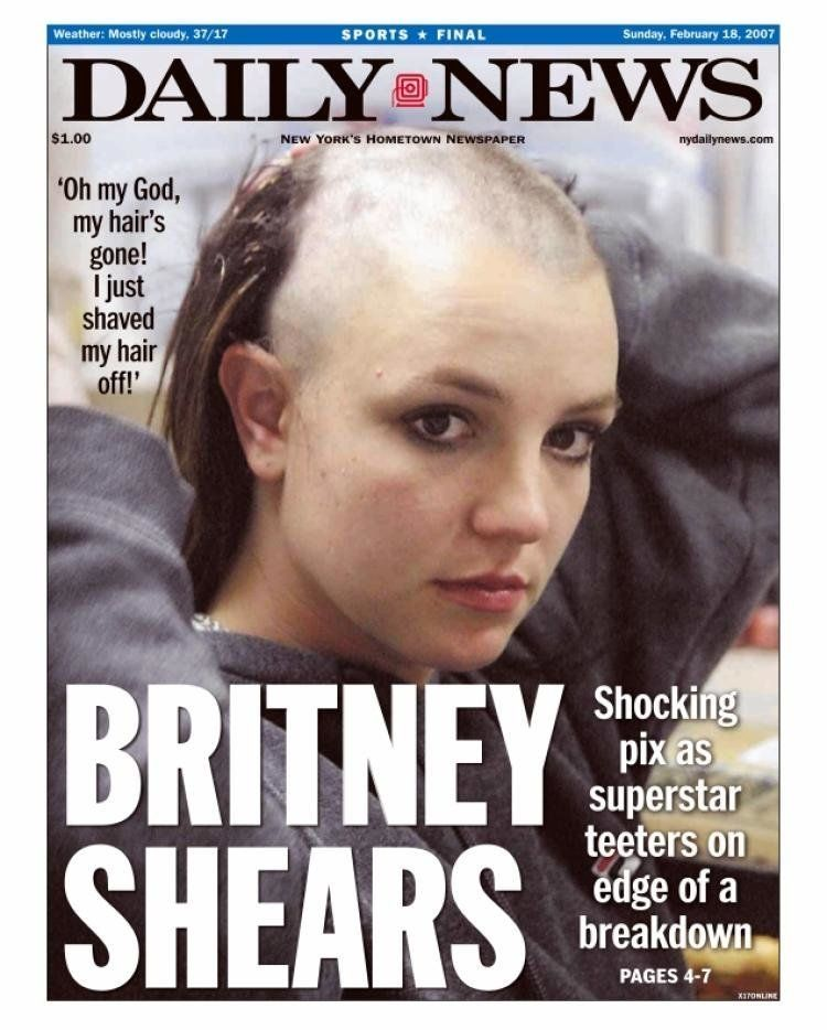 Punkin reccomend Britney head shaved spear video