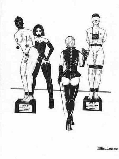 Femdom family drawing story