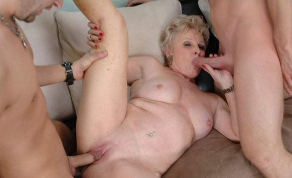 best of Very old threesome Granny