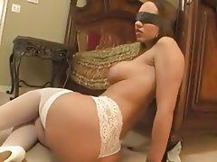 best of Blindfold porn Interracial