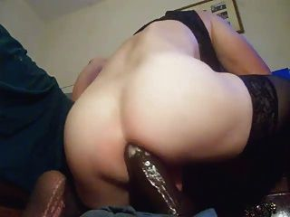 best of With huge dildo gaped Ass hole