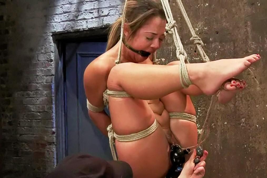 Beautiful bondage ladies only wearing socks