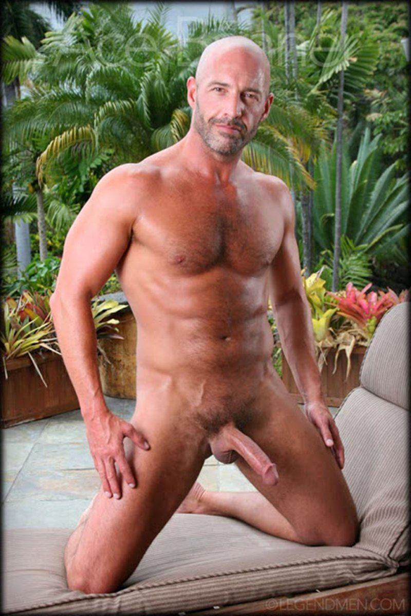Shaved naked musclemen