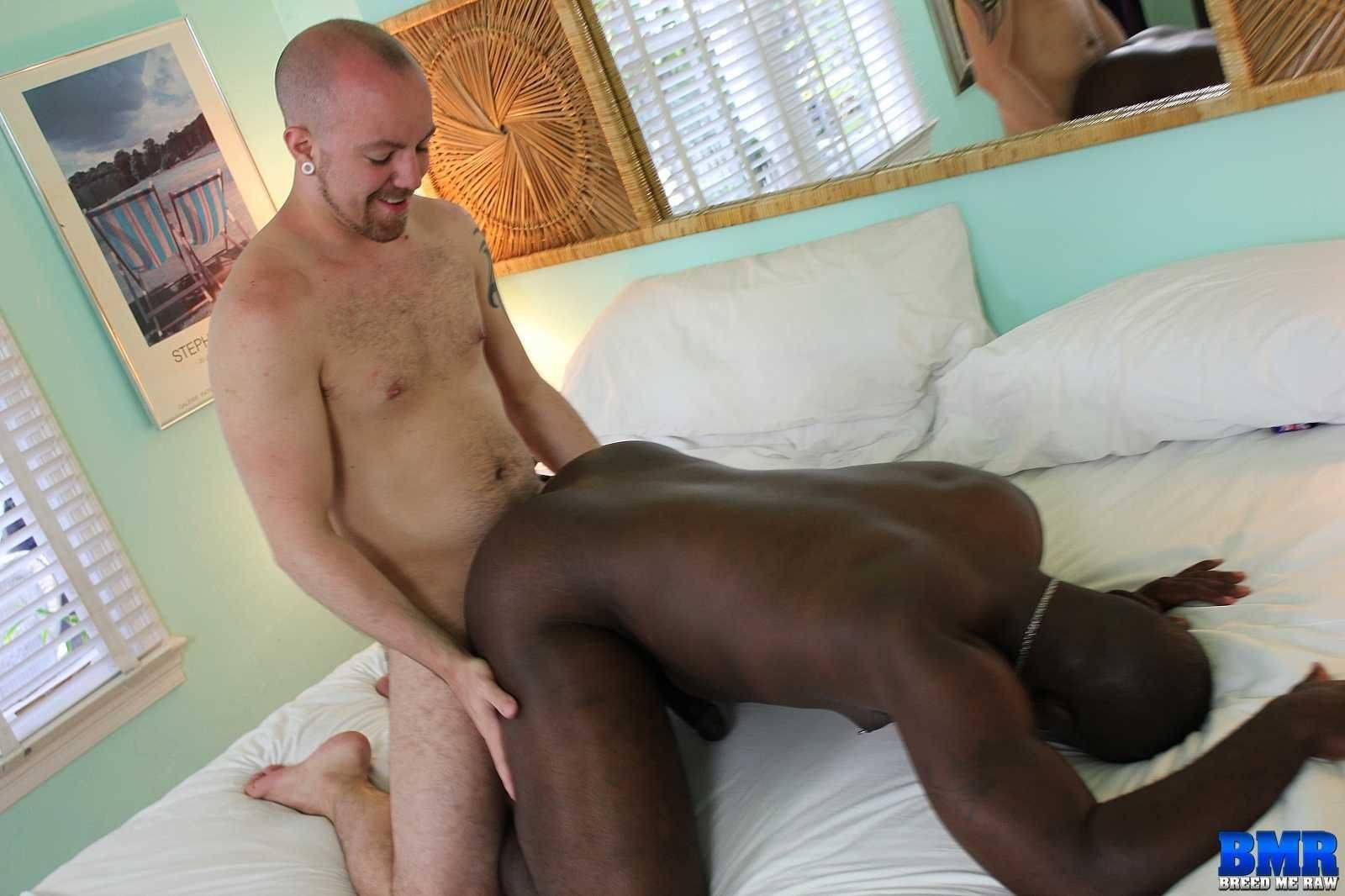 Bareback breeding fucking interracial