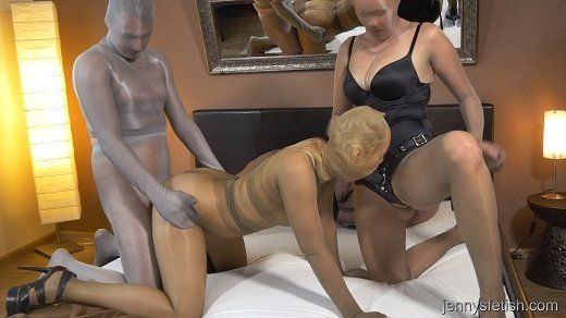 Pantyhose encasement videos