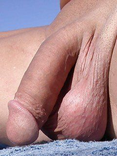 Gay man with shaved cock