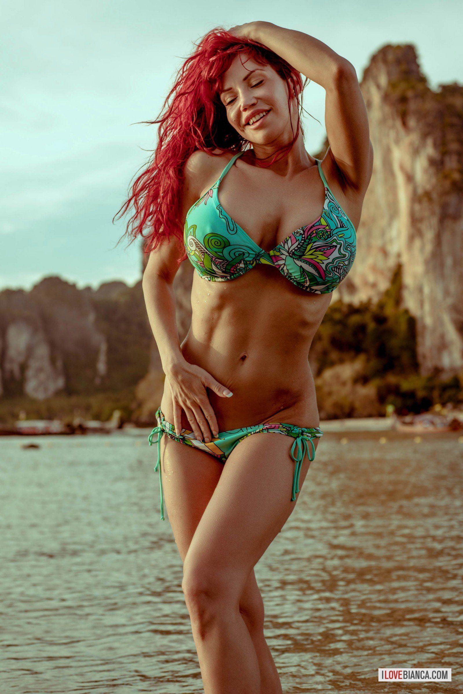 best of Redhead bikini Rate leggy