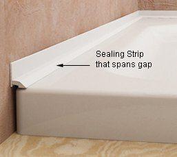 Shower pan filler strip