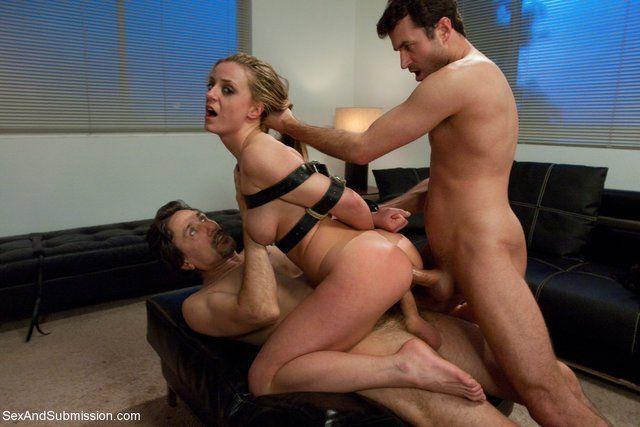 Mmf threesome bondage