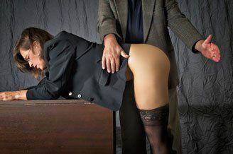 Bend over desk spank foto 996