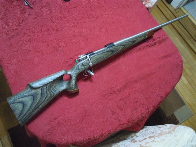 Stock hole vanguard weatherby thumb