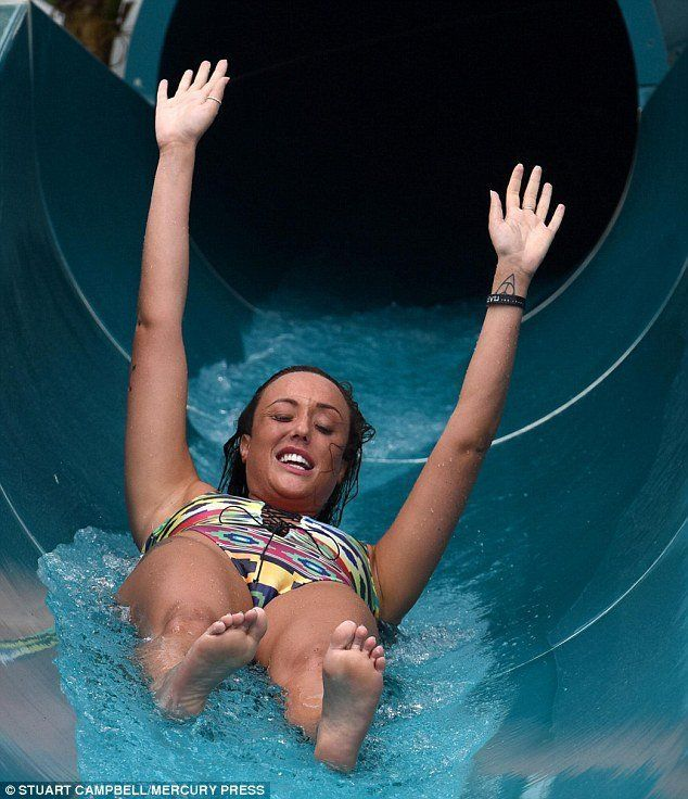 Bikini flash at water park