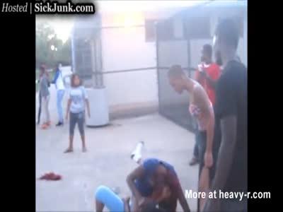 Bad M. F. reccomend Chick beat down tits
