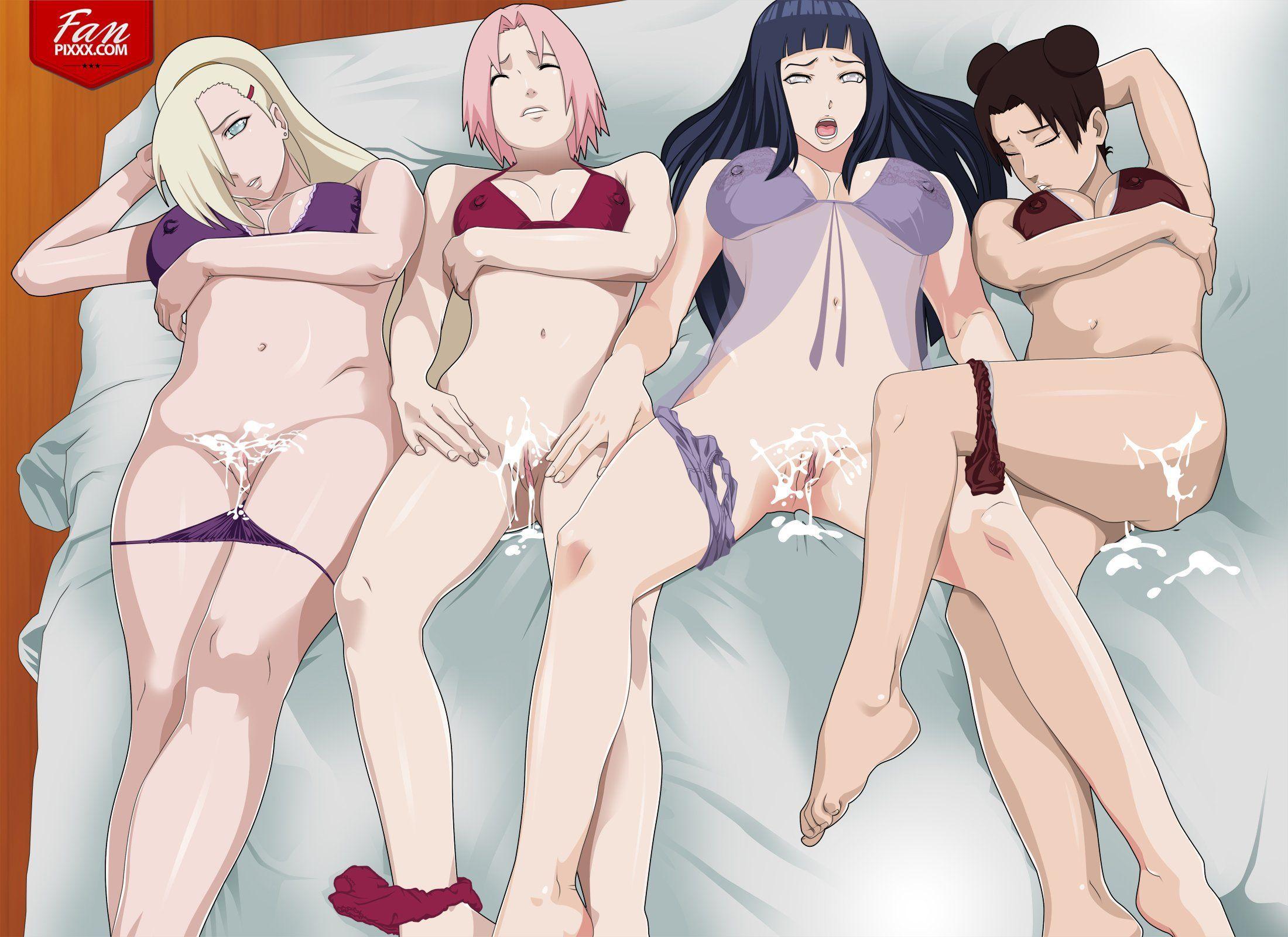 Nackt sakura und hinata Beste Naruto