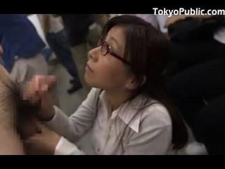 Ladyboy cumshot jap train