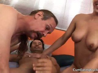 Anal cumshot pussy fuck swallow