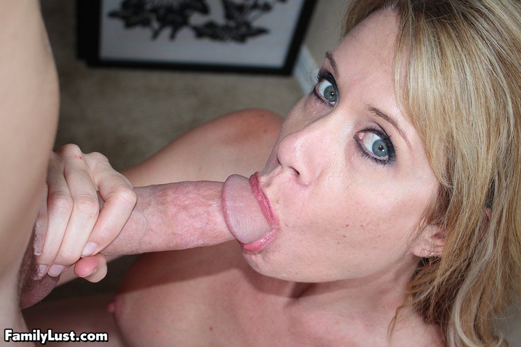 Mom sucking cock