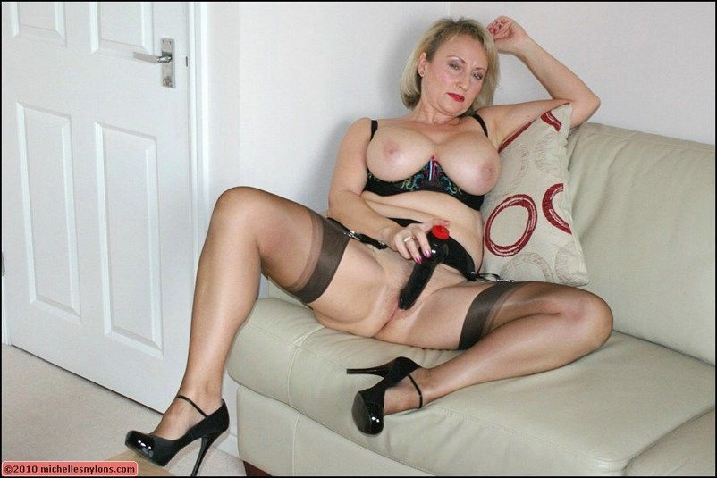 Heels stockings sexy in milf and