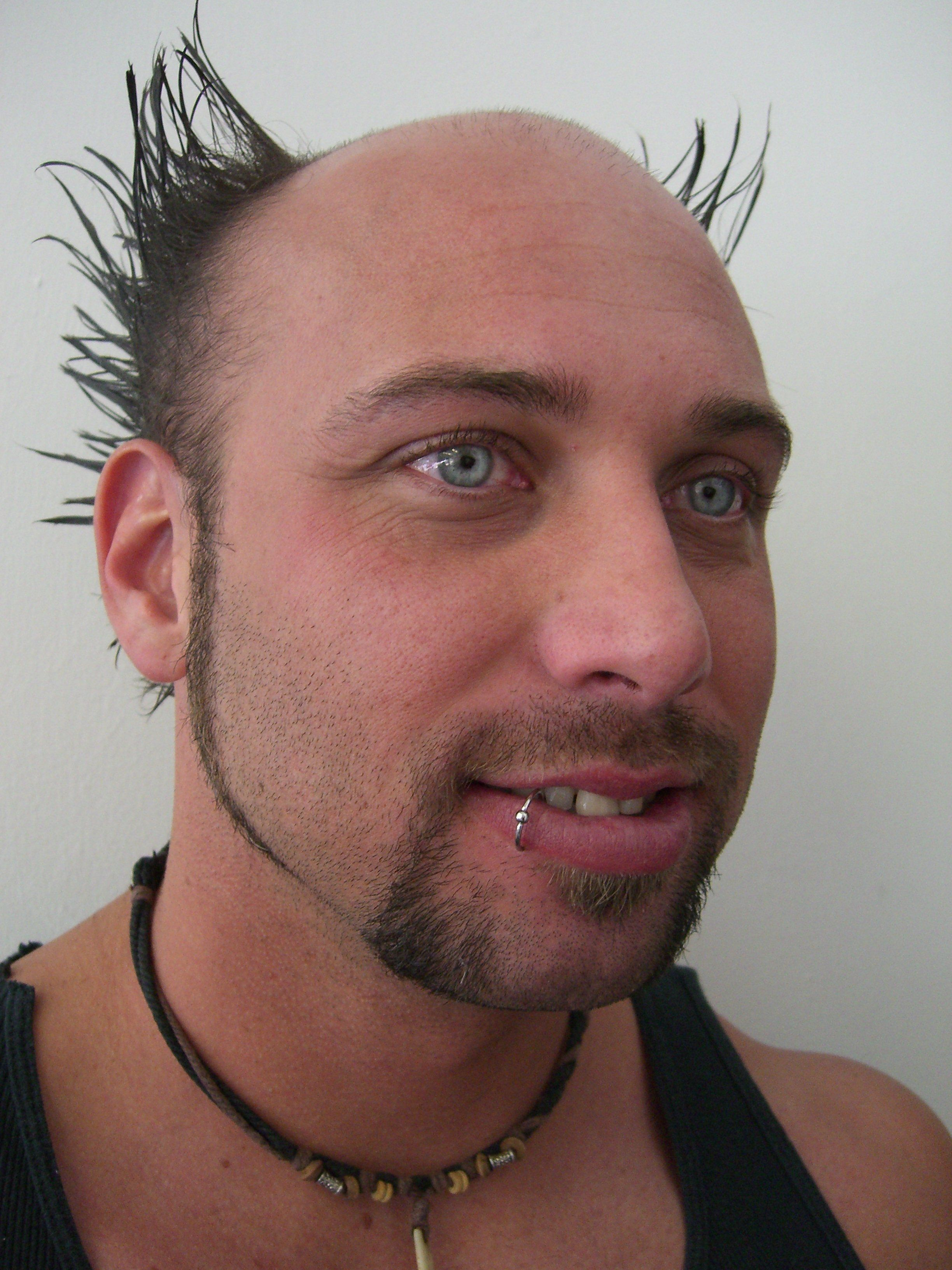 Male facial piercings