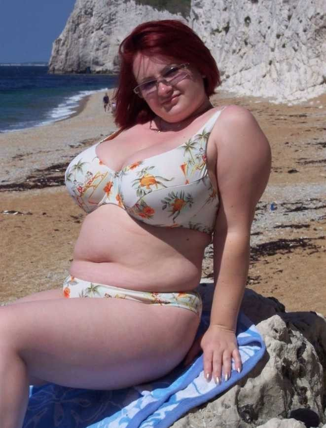 Chubby girls at the beach