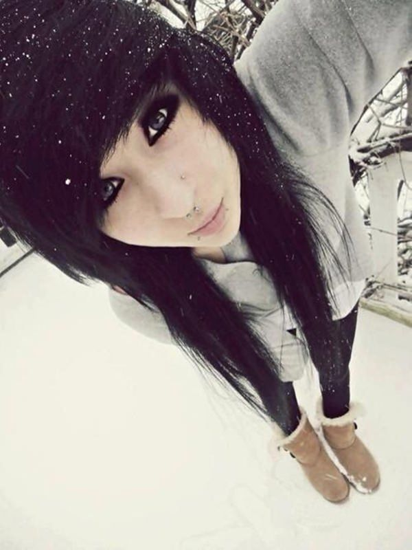 For hairstyles teens girl emo