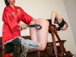 Spanking bare bottom girl clip