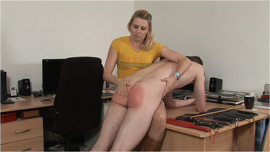 Adult sex bare bottom spanking over the knee