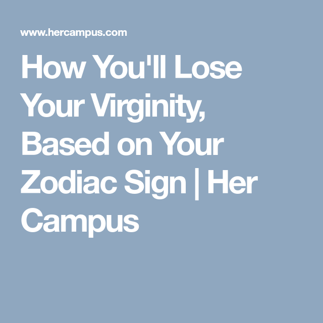 best of Virginity lost your Signs you