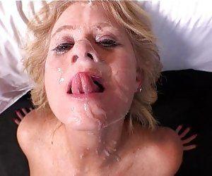 Granny facial porn pics
