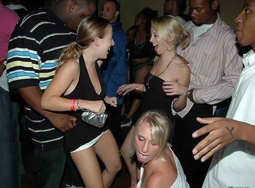 Interracial party pictures