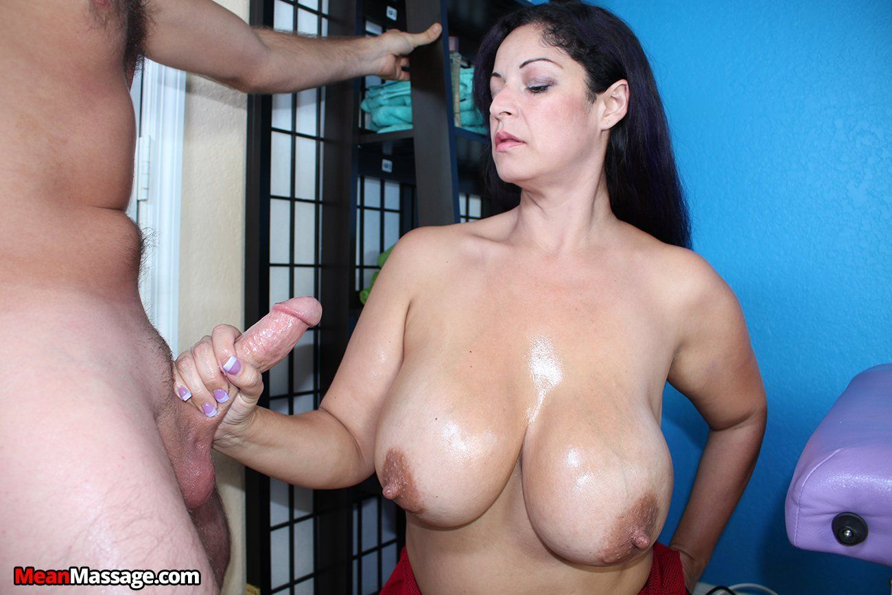 Huge tit milf handjob cumshot first time