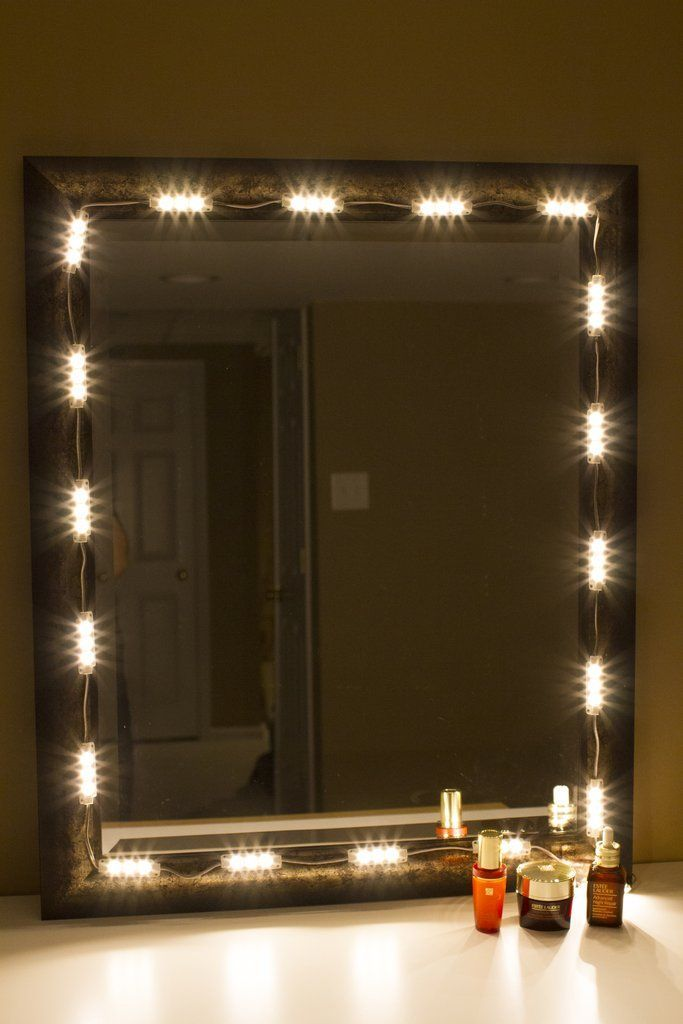 Mirror strip lights