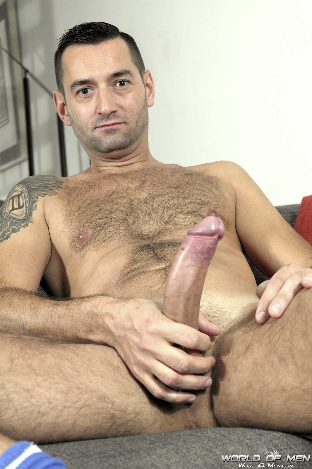 Hairy guys masturbating