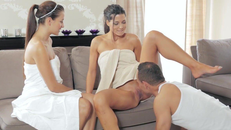 threesome massage