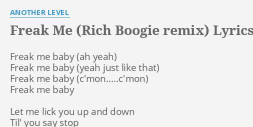 When you lick lyrics