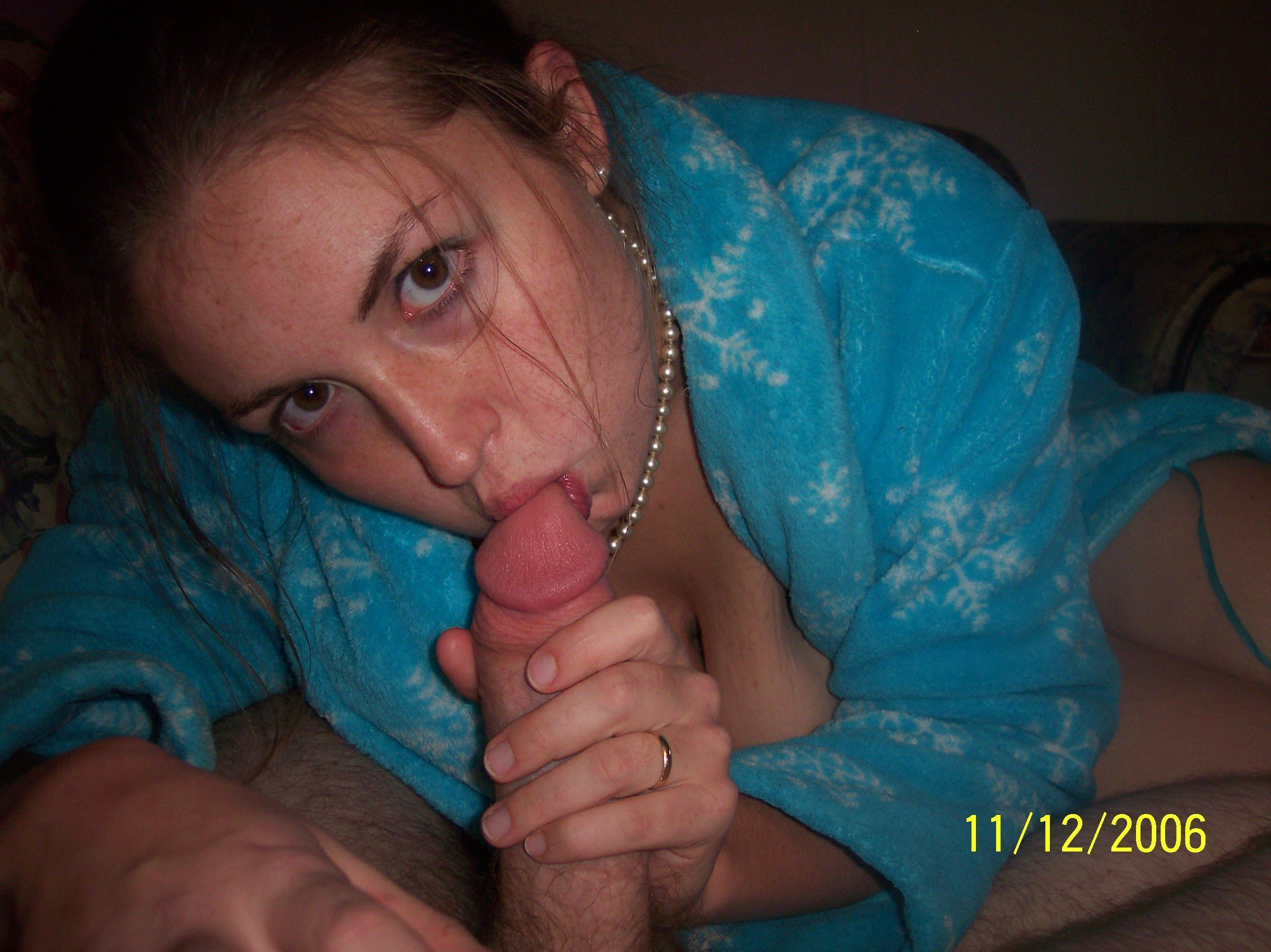 Wife blowjob Real