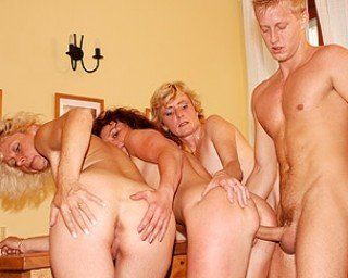 Woman group fucked older necessary